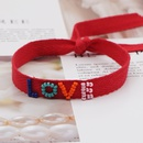 Fashion Miyuki bead woven rainbow ribbon bracelet NHGW336406