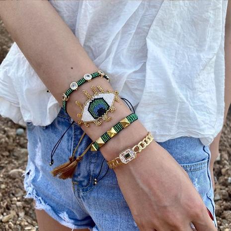 Mode Niet mehrschichtig Miyuki Perle gewebt Dämon Auge Armband NHGW336410's discount tags