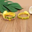 Fashion Miyuki bead woven alphabet ribbon bracelet NHGW336413