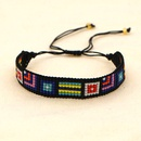 Bohemian Geometric Pattern Miyuki Beads Woven Bracelet NHGW336415