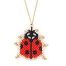 Fashion Miyuki Beads Handmade Weaving Beetle Stainless Steel Necklace NHGW336417