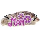 Fashion Purple MOM Letter Bracelet Miyuki Bead Bracelet NHGW336422