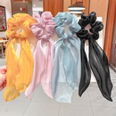 Fashion solid color streamer bow hair scrunchies wholesale NHNA336438