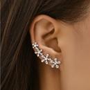 Korean sweet simple flower earrings NHAJ336774