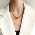 NHOK1556136-Golden-Oil-Drop-Cylindrical-Necklace-40+5cm