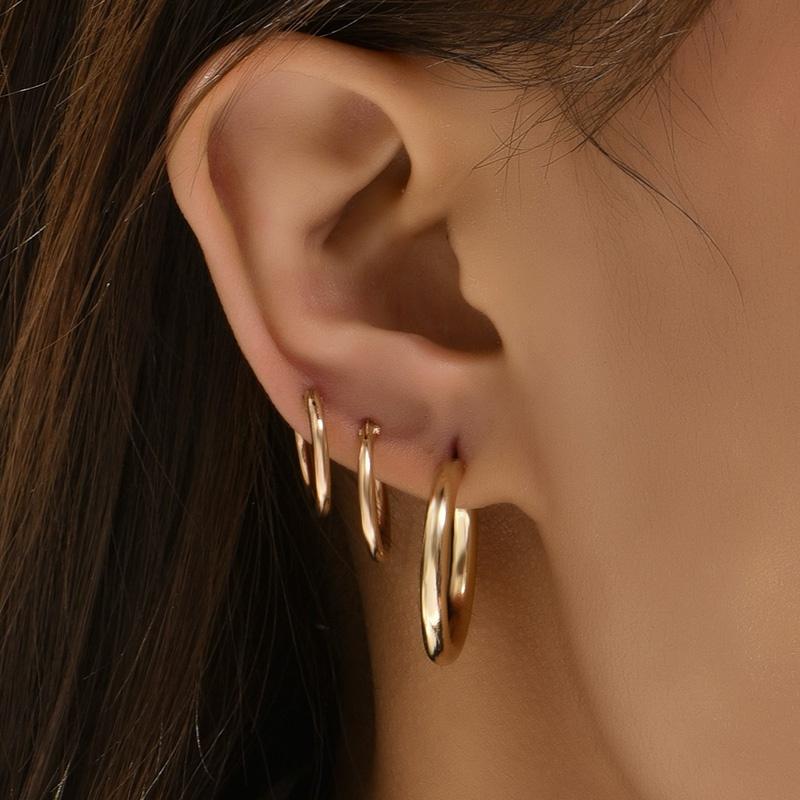 Fashion round metal earrings NHAJ336771