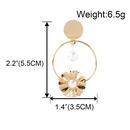 fashion alloy inlaid pearl geometric earrings  NHCT336442