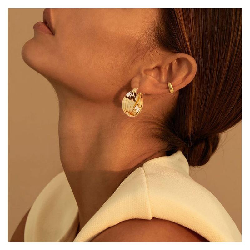fashion geometric twisted alloy earrings   NHCT336443