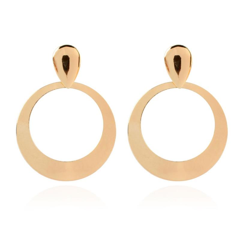 fashion big circle pendent earrings   NHCT336445