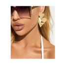 retro gold irregular earrings   NHCT336446