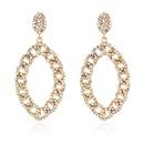 fashion alloy micro diamond long earrings  NHCT336449