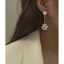 fashion alloy inlaid pearl long earrings  NHCT336452