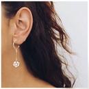 fashion pearl flower Cshaped long earrings  NHCT336455