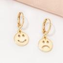 Korea smiley face asymmetrical earrings wholesale NHAI336465