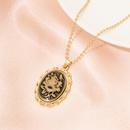 Retro rose alloy earrings necklace set NHAI336466