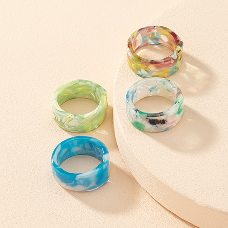 anillo de resina acrílica simple al por mayor NHAI336468's discount tags