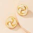 Korea twisted alloy earrings wholesale NHAI336477