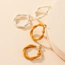Korean twisted resin earrings wholesale NHAI336475