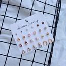 Fashion pearl diamond geometric earrings wholesale NHSD336481
