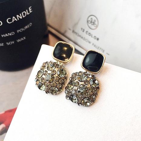 pendientes de diamantes cuadrados de moda NHOT336768's discount tags