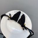 Fashion lace pointed ears long ribbon bowknot headband NHFS336487