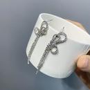 Korean Bowknot Tassel Earrings  NHFS336490