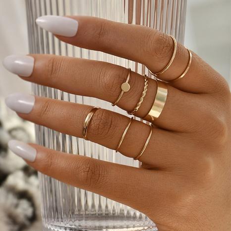 nuevo conjunto de anillos geométricos creativos NHAJ336767's discount tags