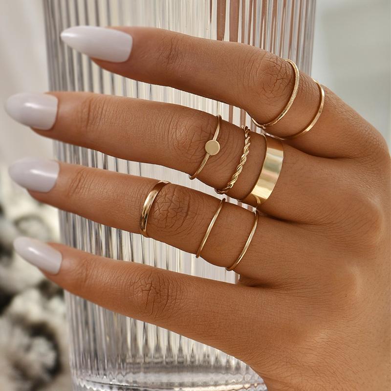 new creative geometric ring set NHAJ336767