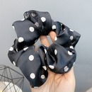 Fashion polka dot satin double layer large bow lace hair scrunchies NHFS336492
