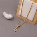 Fashion 26 English alphabet copper zircon necklace wholesale NHBU336495