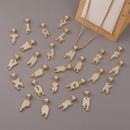 Simple 26 English letters twist chain copper zircon necklace wholesale NHBU336498
