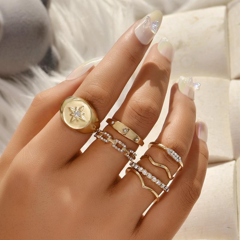 new creative geometric ring set  NHAJ336766
