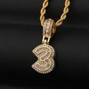 Fashion Arabic numerals twist chain copper zircon necklace wholesale NHBU336511