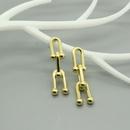 Fashion bamboo joints alloy earrings wholesale NHGO336515