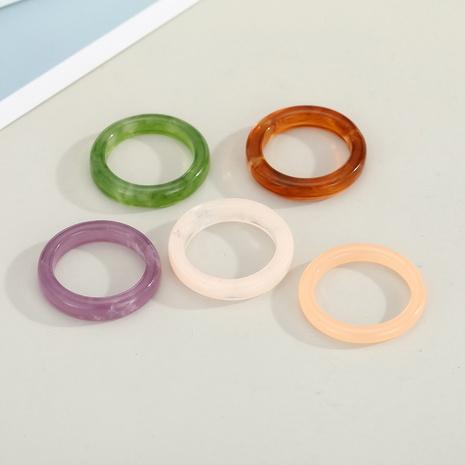 Anillo de resina de color sólido coreano NHGO336518's discount tags