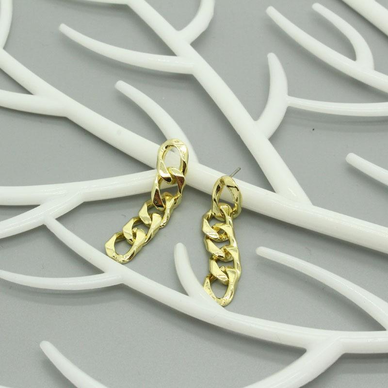 Korean long chain earrings NHGO336519