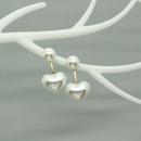 Korea heartshape pearl resin earrings wholesale NHGO336520