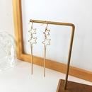 Korea hollow star tassel earrings NHBY336521