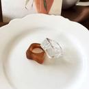 Fashion irregular geometric resin ring wholesale NHBY336524
