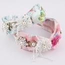 fashion colorful flower diamondstudded tassel headband NHWJ336525
