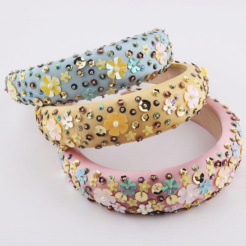 fashion particle flower sponge headband  NHWJ336526
