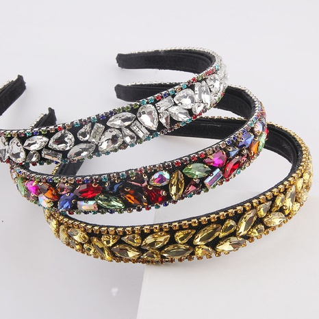 fashion colorful diamond-studded thin headband NHWJ336529's discount tags