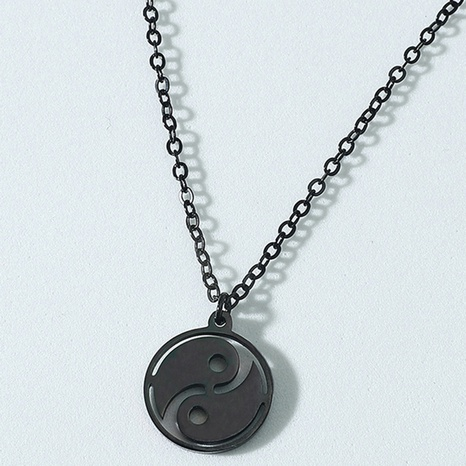 Collar de acero de titanio de moda Tai Chi Gossip NHACH336532's discount tags