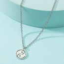 Fashion Tai Chi Gossip Titanium Steel Necklace NHACH336532