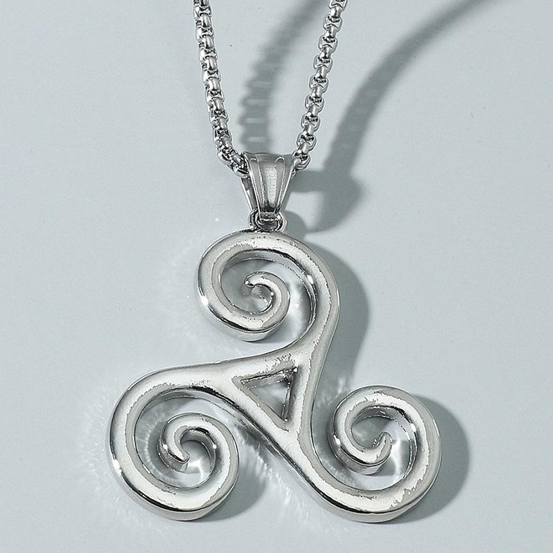 Fashion wolf boy Triskele necklace wholesale NHACH336534