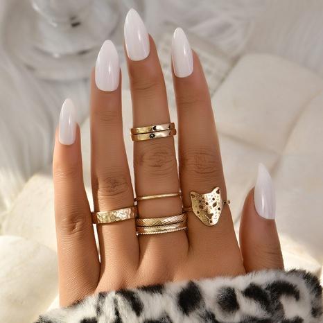 nuevo y creativo conjunto de anillos simples de 7 piezas. NHAJ336764's discount tags
