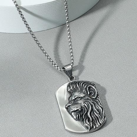 Mode Löwenkopf Legierung Halskette Großhandel NHACH336538's discount tags