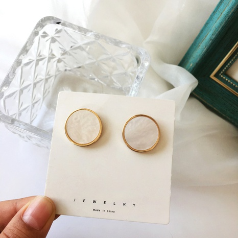 fashion button earrings wholesale NHBY336543's discount tags