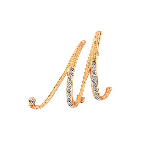 Broches de diamant en alliage de lettre anglaise de mode en gros NHAYN336545's discount tags