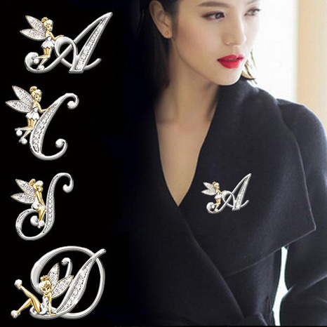 Broche diamant lettre anglaise Fashion elf NHAYN336547's discount tags